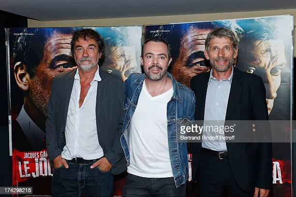Olivier Marchal Edgar Marie and Jacques Gamblin attend the Paris Premiere of 'Le Jour Attendra' on July 23 2013 in Paris France