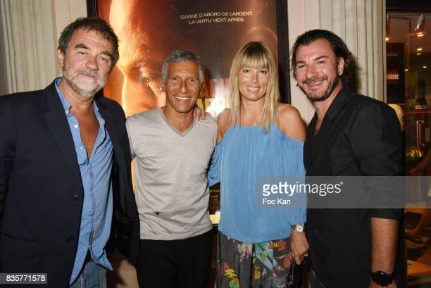 Olivier Marchal Nagui Melanie Page and Michael Youn attend the 'Carbone' SaintTropez Premiere Outside Arrivals At Cinema La Renaissance Place des...