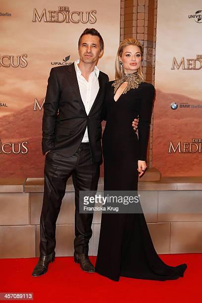 Olivier Martinez and Emma Rigby attend 'The Physician' German Premiere on December 16 2013 in Berlin Germany