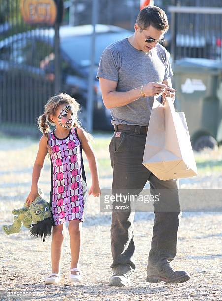 Olivier Martinez and Nahla Ariela Aubry are seen at the Pumpkin Patch on October 7 2013 in Los Angeles California
