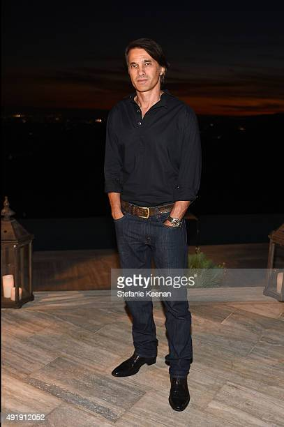Olivier Martinez attends Barneys New York Private Dinner In Support Of Heart Of Los Angeles at the private home of Sharon and Mauricio Oberfeld on...
