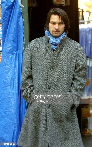 Olivier Martinez during On The Set of Unfaithful at New York City in New York City New York United States