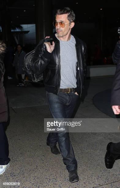 Olivier Martinez is seen at Los Angeles International Airport on December 22 2013 in Los Angeles California