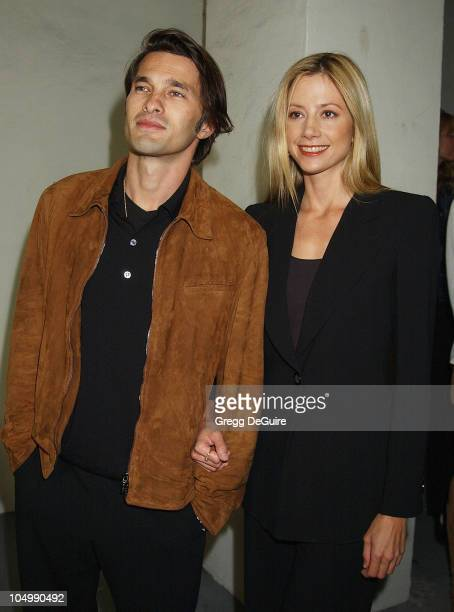 """Olivier Martinez & Mira Sorvino during """"The Grey Zone"""" Premiere to Benefit The L.A. Museum Of The Holocaust at Writers Guild Theatre in Beverly..."""