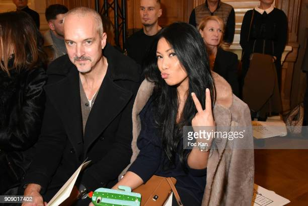Olivier Maury and Anggun attend the On Aura Tout Vu Haute Couture Spring Summer 2018 show as part of Paris Fashion Week on January 22 2018 in Paris...