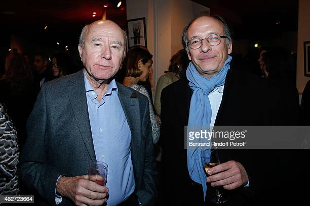 Olivier Mazerolle and journalist at Figaro Yves Threard attend the Private Screening of the Movie 'Tout Peut Arriver' at Mac Mahon Cinema on February...