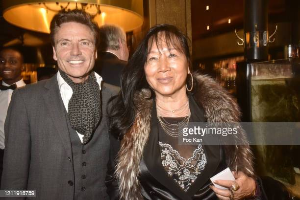 Olivier Mazoyer and Mei Chen Chalais attend the Children For Peace Auction Gala Dinner at Le Grand Bistro de Breteuil on March 11 2020 in Paris France