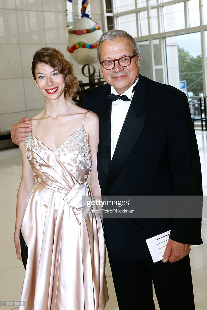 Olivier Meyer and his daughter Mathilde Meyer attend the AROP Charity Gala. Held at Opera Bastille on May 21, 2014 in Paris, France.