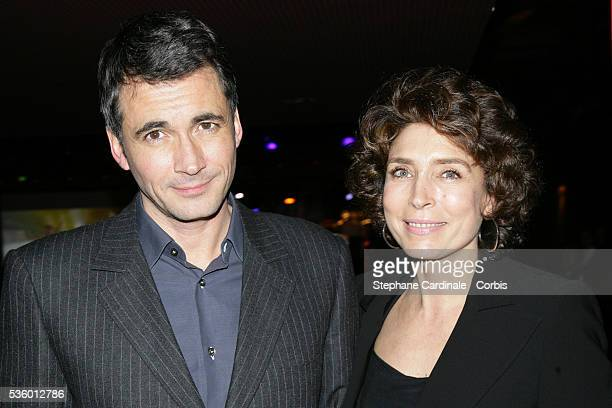 Olivier Minne and MarieAnge Nardi at the France Television Foundation presentation