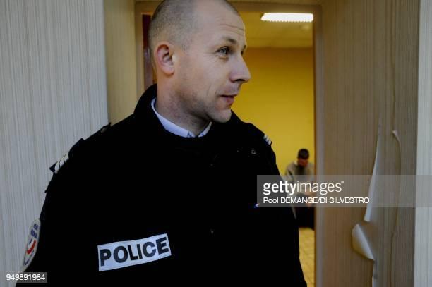 Olivier Morot 35 ans sous brigadier appartenant a la brigade d'ordre public et de securite routiere attache a l'Hotel de Police de Chaumont Le...