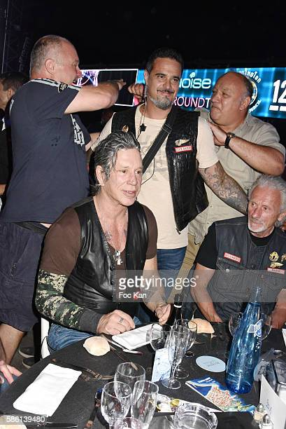 Olivier Muller manager of Fight Night Franck Tiozzo Mickey Rourke and guests attend the Fight Night 2016' Gala At La Citadelle on August 4 2016 in...