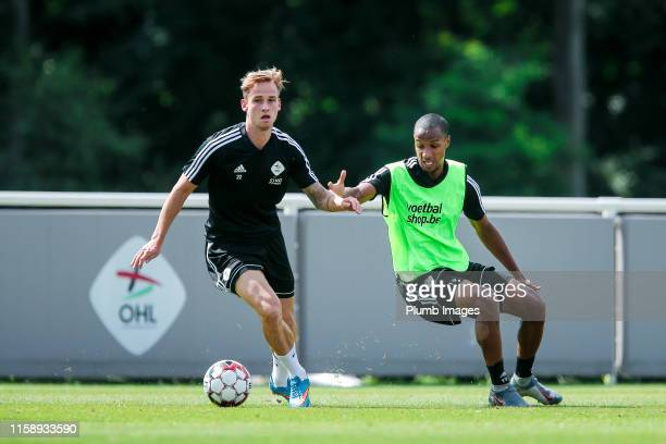 Olivier Myny of OH Leuven and Frédéric Duplus of OH Leuven during the OH Leuven PreSeason Training Session at the OH Leuven training grounds on...