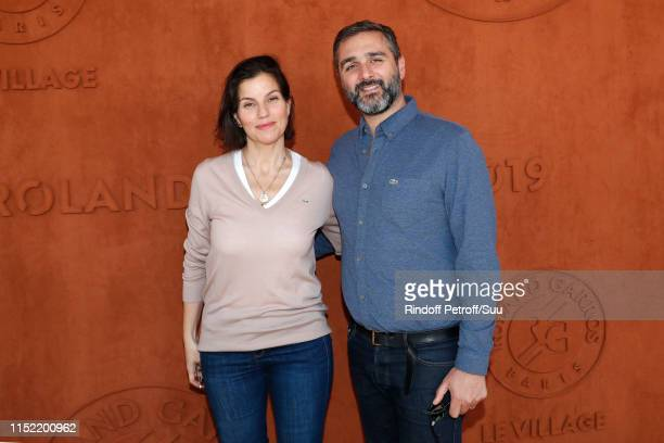 Olivier Nakache and his wife Jezabel Nakache attend the 2019 French Tennis Open - Day Three at Roland Garros on May 28, 2019 in Paris, France.