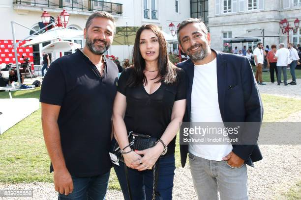 Olivier Nakache Beatrice Dalle and Eric Toledano attend the 10th Angouleme FrenchSpeaking Film Festival Day Five on August 26 2017 in Angouleme France