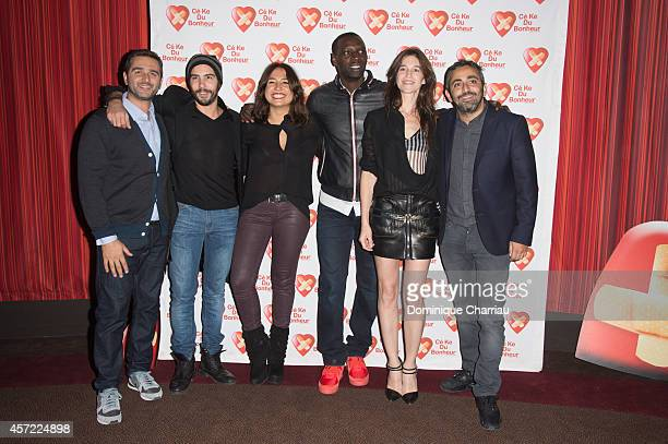 Olivier Nakache Tahar rahim Izia Higelin Omar Sy Charlotte Gainsbourg Eric Toledano attend the Samba Premiere To Benefit 'CekeDuBonheur' At Cinema...