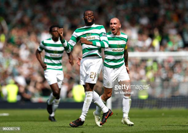 Olivier Ntcham of Celtic celebrates after scoring his sides second goal during the Scottish Cup Final between Motherwell and Celtic at Hampden Park...