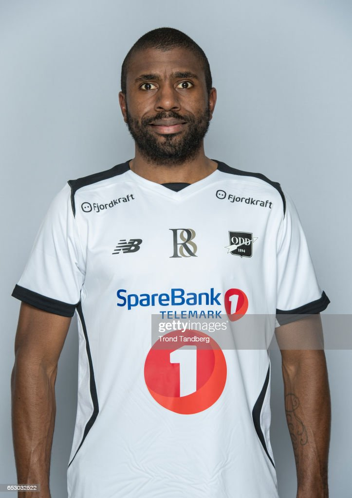 Olivier Occean of Team Odd BK during Photocall on March 13, 2017 in Skien, Norway.