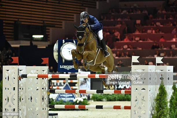 Olivier of France rides Quenelle du Py during the Grand Prix Longines FEI World Cup by GL Events at in the EQUITA Lyon France Photo by Davide...
