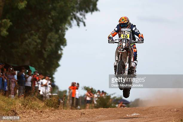 Olivier Pain of France riding on and for KTM 450 RALLY REPLICA NOMADE RACING competes in the Dakar Rally Prologue on January 2 2016 outside Buenos...