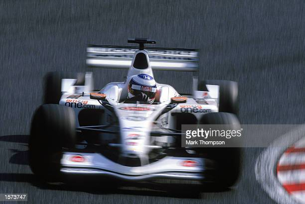 Olivier Panis of BARHonda in action during the Japanese Grand Prix held on October 13 2002 at the Suzuka Grand Prix Racing Circuit Suzuka in Japan