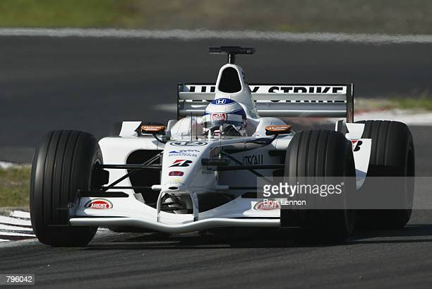 Olivier Panis of France and BAR in action during second practice for the Formula One European Grand Prix at the Nurburgring Germany on June 22 2002