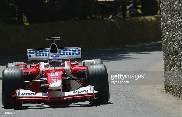 Olivier Panis of France and Toyota in action during the Goodwood Festival of Speed at Goodwood House on July 12 2003 in Chichester England