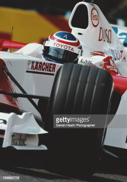 Olivier Panis of France drives the Panasonic Toyota Racing Toyota TF104 Toyota RVX-04 V10 during practice for the Formula One Monaco Grand Prix on 20...