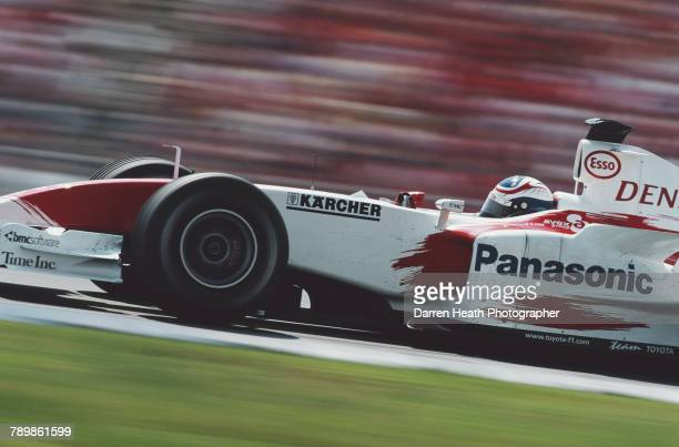 Olivier Panis of France drives the Panasonic Toyota Racing Toyota TF104 Toyota RVX04 V10 during the Formula One German Grand Prix on 25 July 2004 at...