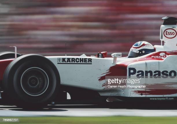 Olivier Panis of France drives the Panasonic Toyota Racing Toyota TF104 Toyota RVX-04 V10 during the Formula One German Grand Prix on 25 July 2004 at...