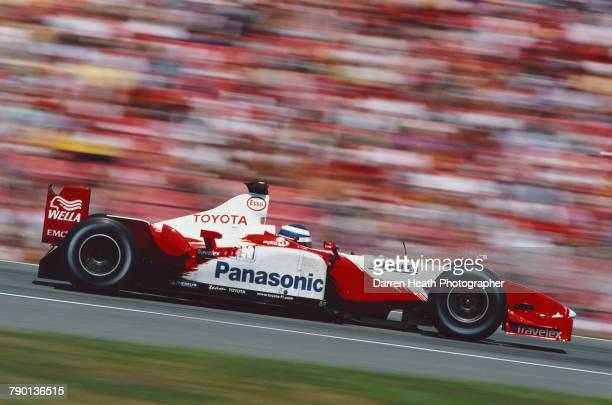 Olivier Panis of France drives the Panasonic Toyota Racing Toyota TF103 Toyota RVX-03 V10 the Formula One German Grand Prix on 3 August 2003 at the...