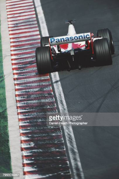 Olivier Panis of France drives the Panasonic Toyota Racing Toyota TF103 Toyota RVX-03 V10 during the Formula One Hungarian Grand Prix on 24 August...