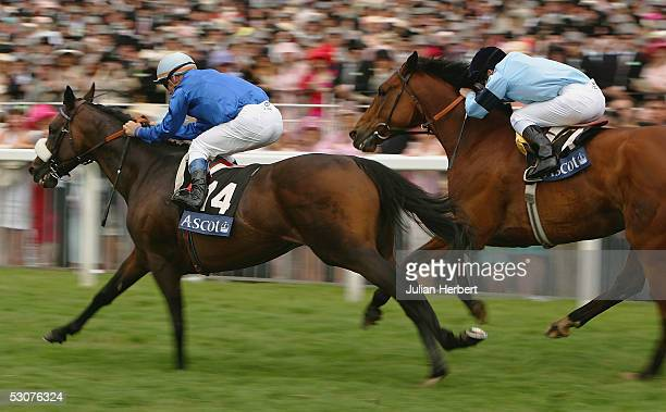 Olivier Peslier and Westerner get the better of the Johnny Murtagh ridden Distinction to land The Gold Cup Race run at York Racecourse on June 16,...