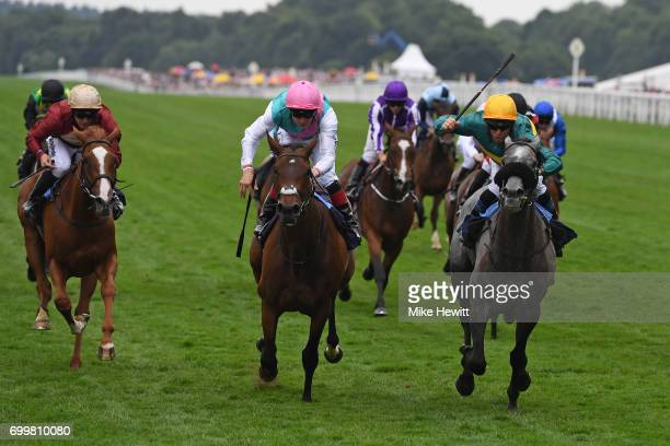 Olivier Peslier on Coronet wins the Ribblesdale Stakes on Day Three of Royal Ascot at Ascot Racecourse on June 22 2017 in Ascot England