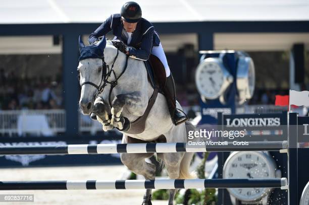 Olivier Philippaerts of Belgium riding HM Legend Of Love during the Longines Grand Prix Athina Onassis Horse Show on June 3 2017 in St Tropez France