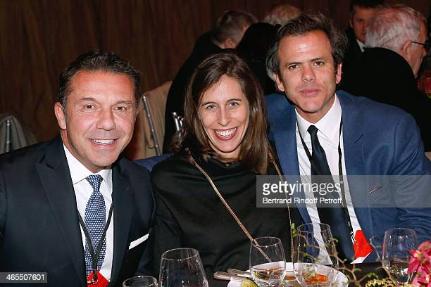 Olivier Picasso Widmaier with Guillaume Houze and his wife attend the 'Nuit De La Chine' Opening Night at Grand Palais on January 27 2014 in Paris...