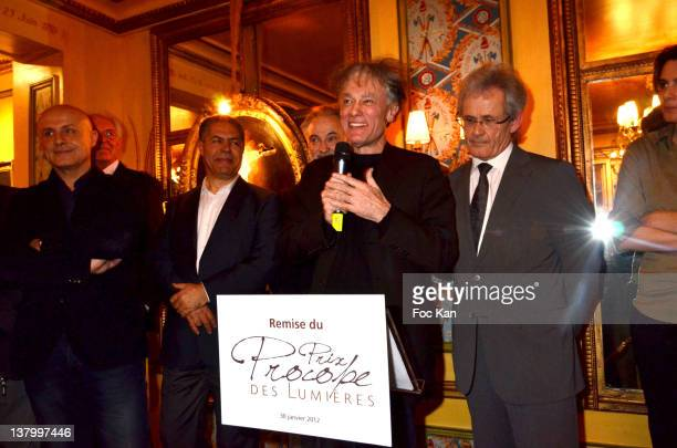 Olivier Poivre d'Arvor Malek Chebel Jacques Attali Procope 2012 award recipient Ruwen Ogien and JeanMichel Texier attend the Procope Des Lumieres'...