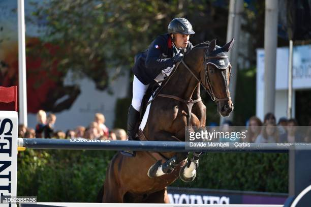 Olivier Robert of France riding Eros during Longines FEI Jumping Nations Cup Final Competition on October 7 2018 in Barcelona Spain