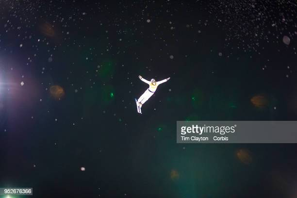 Olivier Rochon of Canada in action during the Freestyle Skiing Men's Aerials Qualification at Phoenix Snow Park on February17 2018 in PyeongChang...