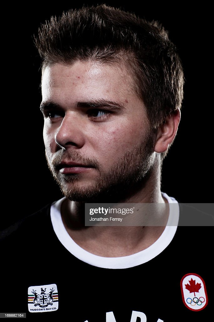 Olivier Rochon poses for a portrait during the Canadian Olympic Committee Portrait Shoot on May 13, 2013 in Vancouver, British Columbia, Canada.