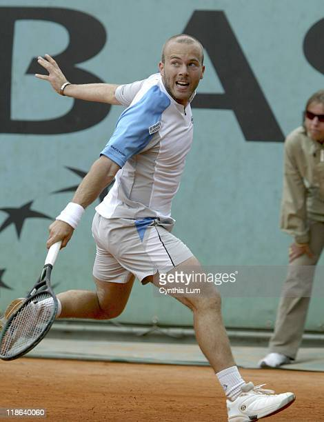 Olivier Rochus defeats Guillermo GarciaLopez at the 2005 French Open in Roland Garros Stadium on the May 24 2005