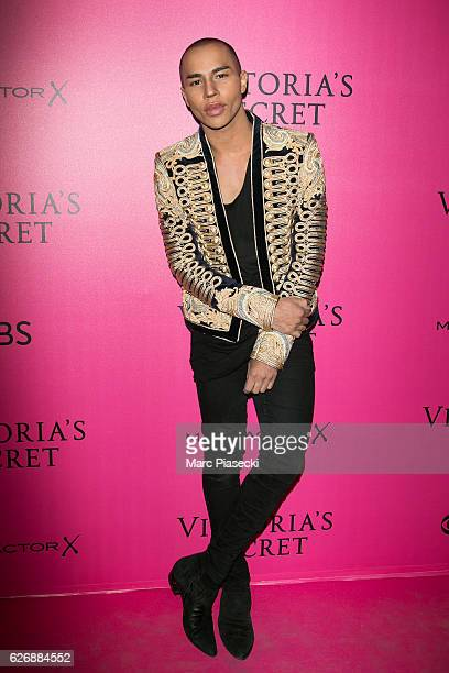 Olivier Rousteing attends '2016 Victoria's Secret Fashion Show' Pink carpet photocall at Le Grand Palais on November 30 2016 in Paris France