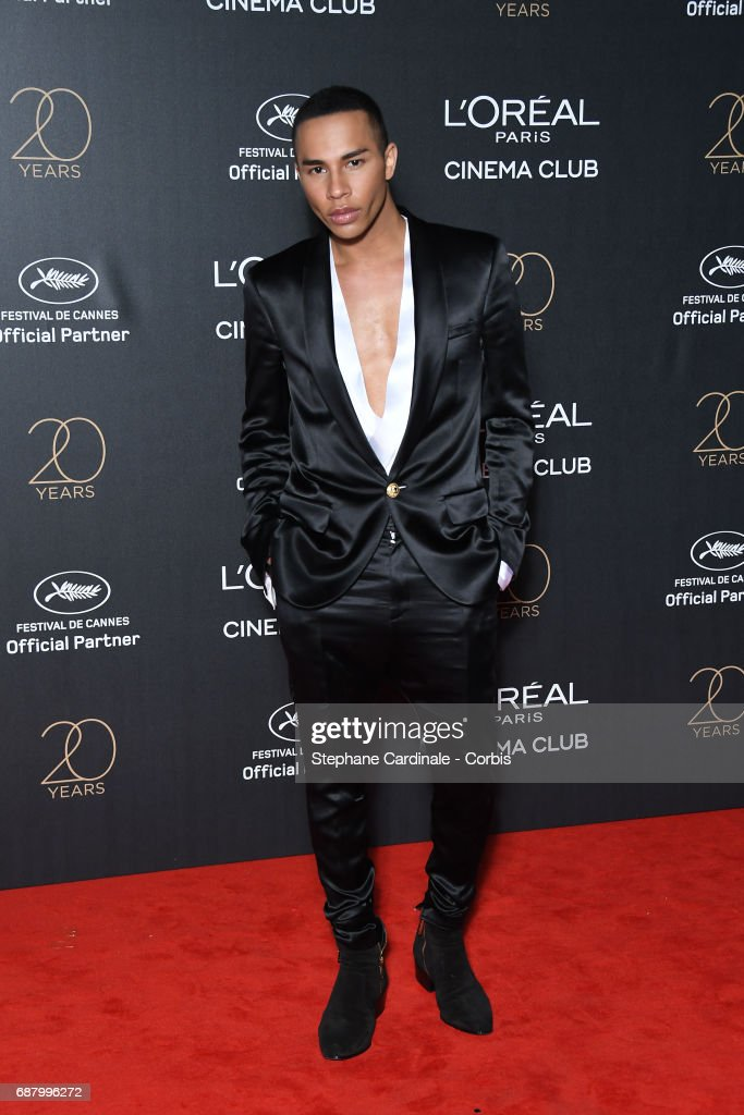 Olivier Rousteing attends Gala 20th Birthday of L'Oreal In Cannes during the 70th annual Cannes Film Festival at Martinez Hotel on May 24, 2017 in Cannes, France.