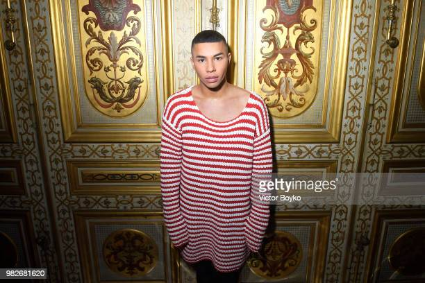 Olivier Rousteing attends the Balmain Menswear Spring/Summer 2019 show as part of Paris Fashion Week on June 24 2018 in Paris France