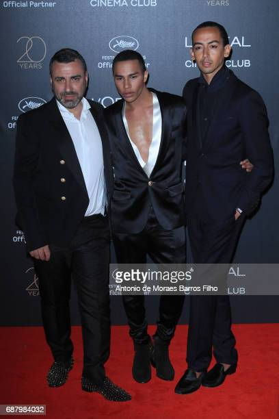 Olivier Rousteing attends the Gala 20th Birthday Of L'Oreal In Cannes during the 70th annual Cannes Film Festival at Hotel Martinez on May 24 2017 in...