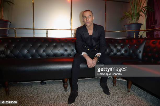Olivier Rousteing attends the L'Oreal Paris Dinner Hosted By Julianne Moore as part of the Paris Fashion Week Womenswear Fall/Winter 2017/2018 on...