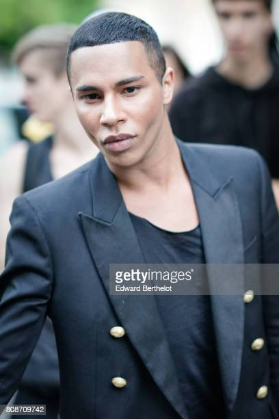 Olivier Rousteing attends the Vogue Foundation Dinner during Paris Fashion Week Haute Couture Fall/Winter 20172018 on July 4 2017 in Paris France
