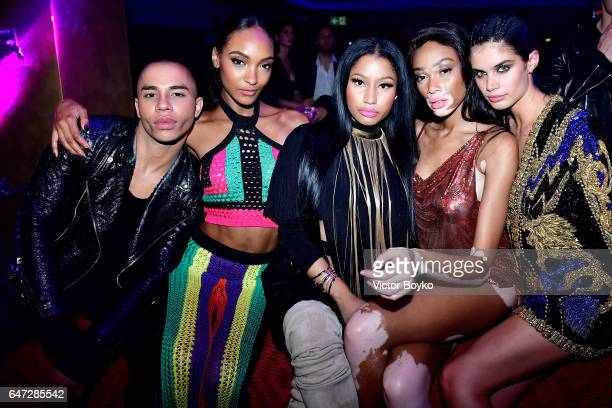 Olivier Rousteing Jourdan Dunn Nicki Minaj Winnie Harlow and Sara Sampaio attend Balmain aftershow party as part of Paris Fashion Week Womenswear...