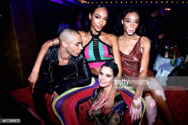 Olivier Rousteing Jourdan Dunn Winnie Harlow and Sara Sampaio attend Balmain aftershow party as part of Paris Fashion Week Womenswear Fall/Winter...