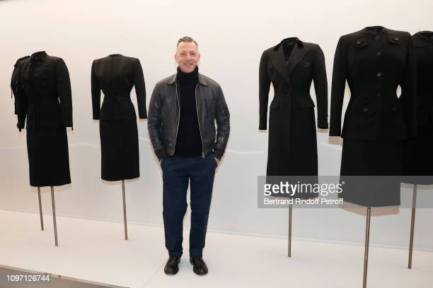 Olivier Saillard Set Designer of the 'Adrian and Alaia L'art du tailleur' Exhibition attends the Tribute To Azzedine Alaia as part of Paris Fashion...
