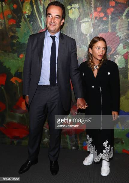 Olivier Sarkozy and MaryKate Olsen attend 2017 Take Home A Nude Art party and auction at Sotheby's on October 11 2017 in New York City